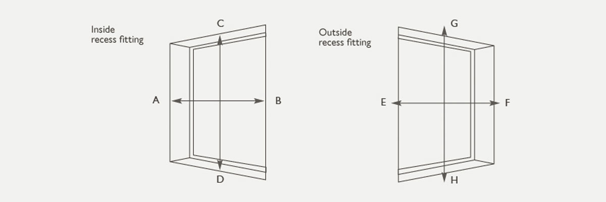 Measuring for blinds - difference between inside and outside fit